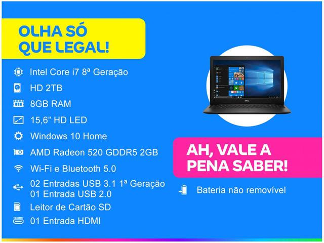 Imagem de Notebook Dell Inspiron i15-3583-A30P Intel Core i7