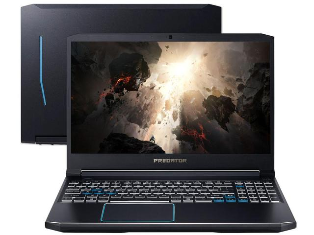 "Notebookgamer - Acer Ph315-52-7210 I7-9750h 2.60ghz 16gb 256gb Híbrido Geforce Rtx 2060 Windows 10 Home 15,6"" Polegadas"
