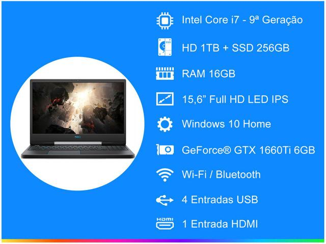 Imagem de Notebook Gamer Dell G5-5590-A30B Intel Core i7