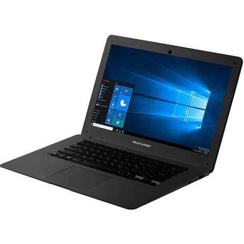 Imagem de Notebook Legacy Cloud Quad Core Windows 10 Intel Atom Memoria 64GB (Interna 32GB+Micro Sd 32GB) e Memoria RAM 2GB Preto Multilaser - PC107