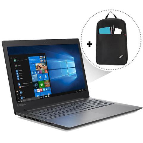 Imagem de Notebook Lenovo B330 i3-7020U 4GB 500GB Tela 15.6 Win10 Preto + Mochila Lenovo Thinkpad Basic