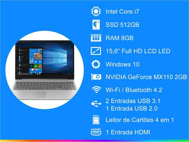 Imagem de Notebook Lenovo Ideapad S145 Intel Core i7 8GB