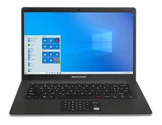 "Notebook - Multilaser Pc310 Pentium N3700 2.40ghz 4gb 64gb Padrão Intel Hd Graphics Windows 10 Home Legacy 14"" Polegadas"