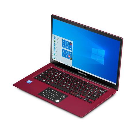 Imagem de Notebook Multilaser Legacy Cloud, com Windows 10 Home, Processador Intel Quad Core, Memoria 2GB 32GB, Tela 14,1 Pol. HD, Vermelho - PC133