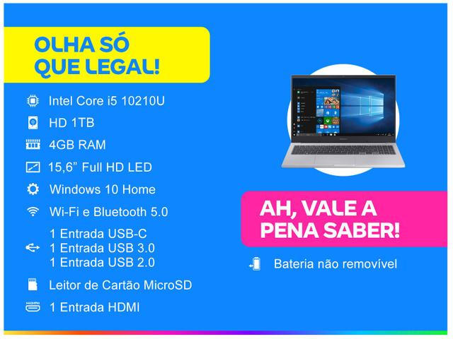 Imagem de Notebook Samsung Book X20 Intel Core i5 4GB 1TB