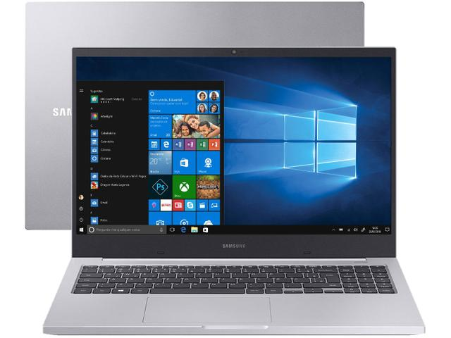 Notebook - Samsung Np550xcj-xf3br I5-10210u 1.60ghz 8gb 256gb Ssd Geforce Mx110 Windows 10 Home Book X45 15,6