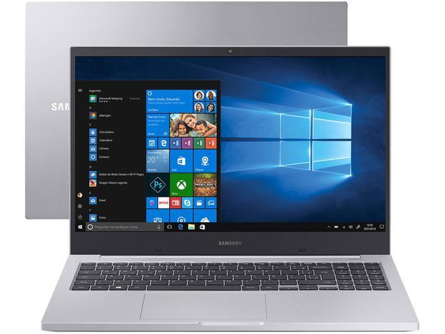 "Notebook - Samsung Np550xcj-xs2br I7-10510u 1.80ghz 16gb 128gb Híbrido Geforce Mx110 Windows 10 Home X55 15,6"" Polegadas"