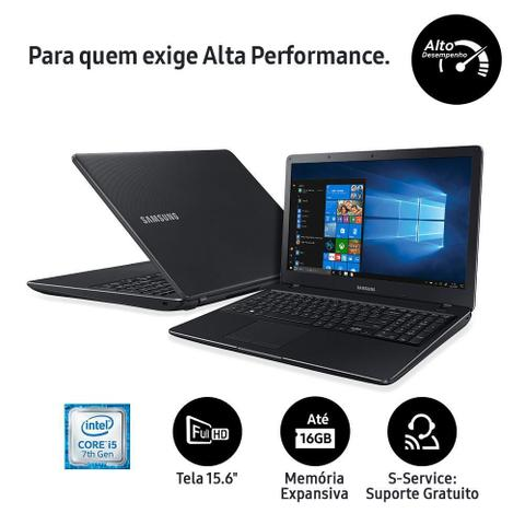 "Imagem de Notebook Samsung Expert X21 NP300E5M-KFWBR, Core i5-7200U, 4GB, 1TB, Full HD 15.6"", Windows 10"