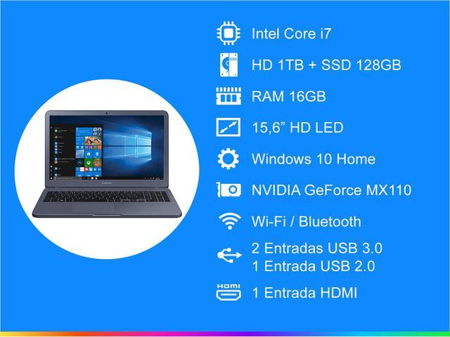 Imagem de Notebook Samsung Expert X55 Intel Core i7 16GB