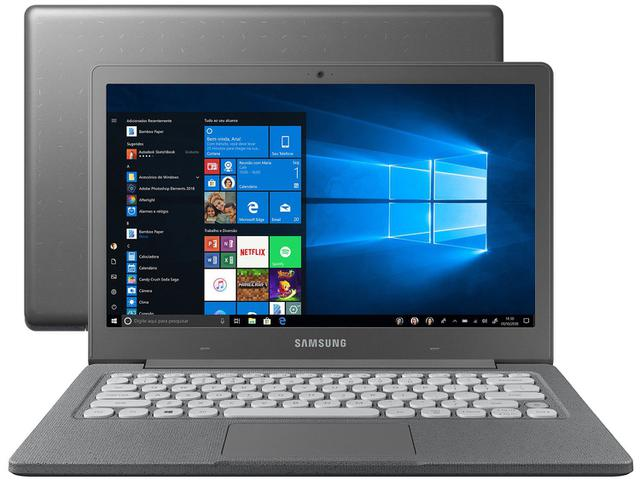 "Notebook - Samsung Np530xbb-ad1br Celeron N4000 1.10ghz 4gb 64gb Ssd Windows 10 Home Flash 13,3"" Polegadas"