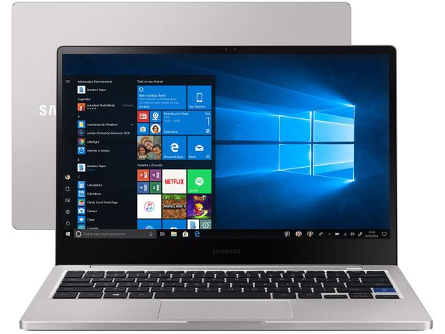 "Notebook - Samsung Np730xbe-kp1br I3-8145u 2.10ghz 4gb 256gb Ssd Intel Hd Graphics Windows 10 Home Style S51 13,3"" Polegadas"