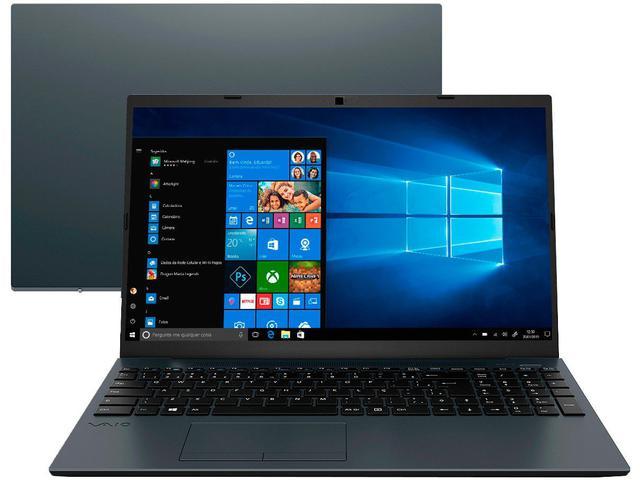 "Notebook - Vaio Vjfe53b0211h I3-1005g1 1.20ghz 4gb 256gb Ssd Intel Hd Graphics Windows 10 Home Fe15 15,6"" Polegadas"