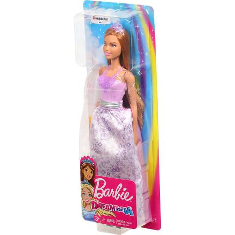 Imagem de Nova Boneca Barbie Dreamtopia Princesa Morena Mattel Fxt13