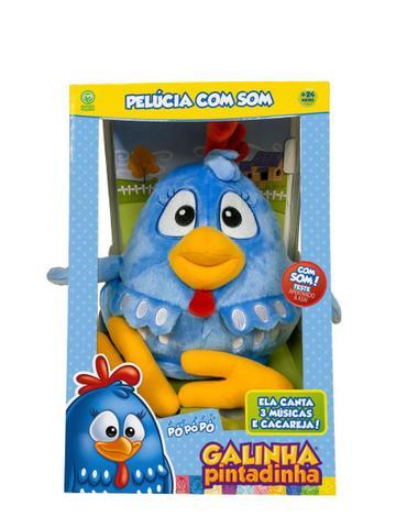 Imagem de Nova Brinquedo Pelucia com Som Galinha Pintadinha Dtc 4994