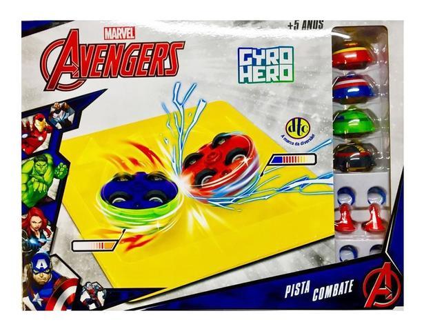 Imagem de Nova Pista Combate Gyro Hero Marvel Os Vingadores - DTC