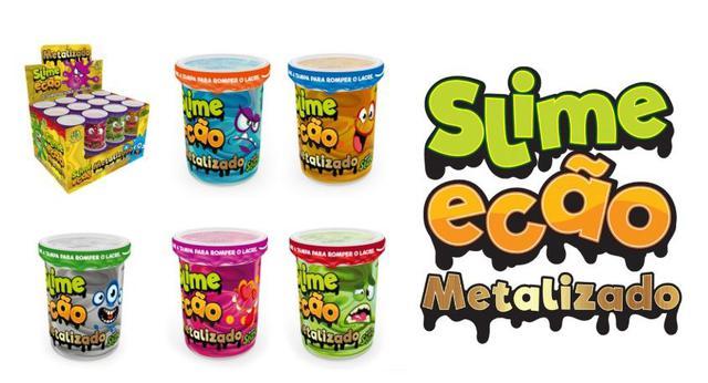 Imagem de Novo Brinquedo Slime Ecao Metalizado 110g Aleatório Dtc 5054