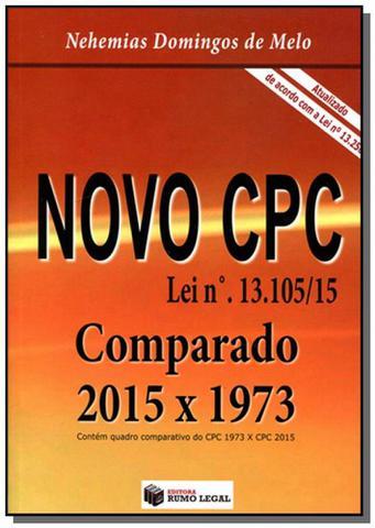 Imagem de Novo cpc comparado: 2015 x 973 - de acordo com a l