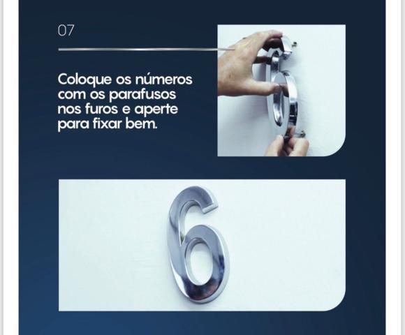 Imagem de Número 4 Residencial De Casa Cromado - 20cm De Altura