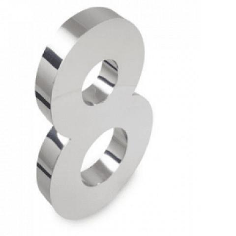 Imagem de Número 8 de Aço Inox 3d Caixa Alta Polido Brilhante Espelhado 15 cm - Número de casa