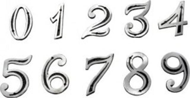 Imagem de Número De Casa Em Alumínio Fundido (kit Bucha E Parafuso)