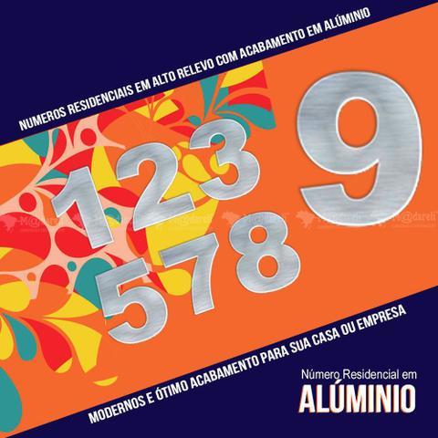 Imagem de Número Residencial em Alumínio Espelhado - 7cm altura