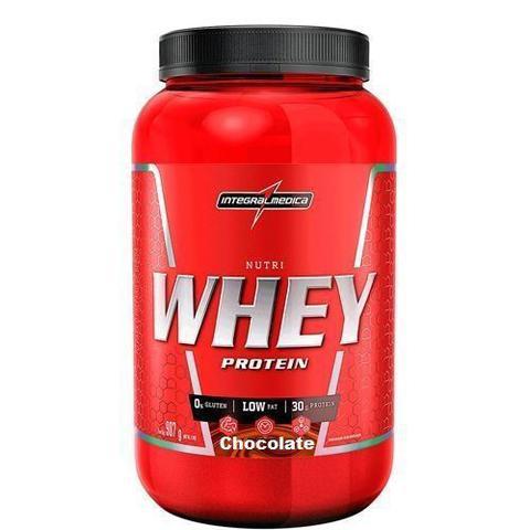 Imagem de Nutri Whey Protein 907g Chocolate + BCAA 2400 - 100 caps + Coqueteleira 600ml - Integralmádica