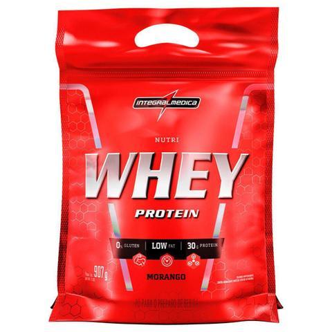 Imagem de Nutri Whey Protein - 907g Refil Morango - IntegralMédica - Integral Médica