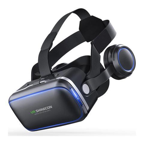 Imagem de Óculos 3D Realidade Virtual Shinecon VR 6.0 Fone e Controle