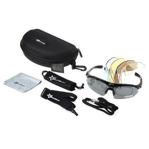 37ec163a111fe Imagem de Óculos Ciclismo Esportes Polarizado 5 Lentes Rockbros + Clip Lente  De Grau