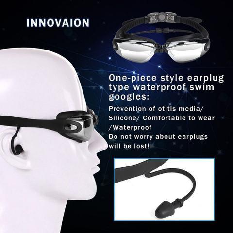 5898f1c5f Imagem de Óculos Completo Touca De Natação Zhenya Profissional  Antiembaçamento