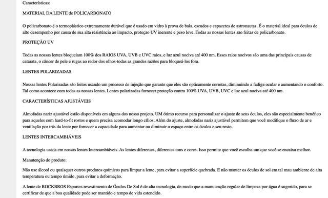 Imagem de Óculos De Ciclismo Original Kit 5 Lentes Rockbro