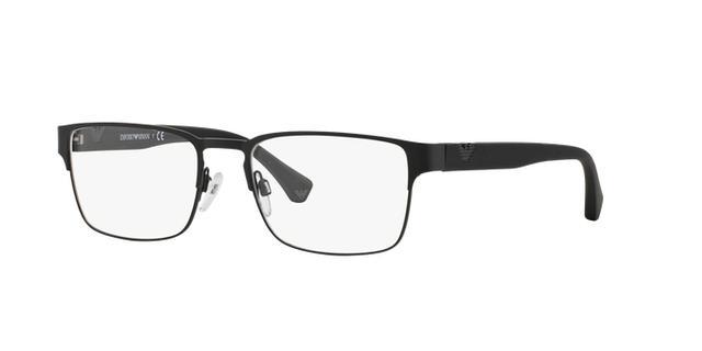 e72418d72ca3f Imagem de Óculos de Grau Emporio Armani EA1027 3001 Preto Fosco Lentes Tam  55