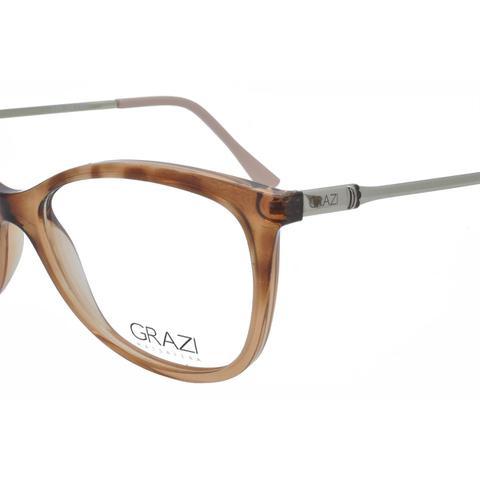 dca7dc864d442 Imagem de Óculos de Grau Grazi Massafera GZ3033 - Acetato Tartaruga Marrom  e Metal Prata