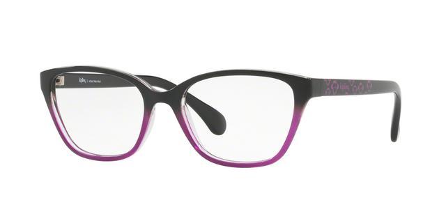 3627b0f1ed1e2 Imagem de Óculos de Grau Kipling KP3099 F283 Preto Roxo Degradê Lente Tam 52