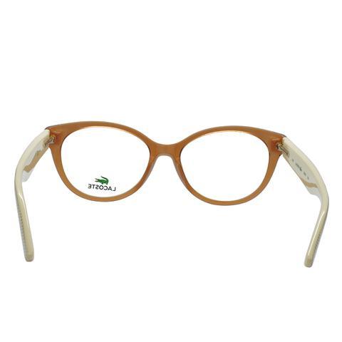 Imagem de Óculos de Grau Lacoste Feminino L2708 C210 - Acetato Marrom  Translucido e Bege 021d5ffca3