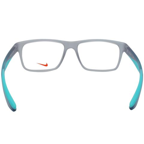 Imagem de Óculos de Grau Nike Masculino NIKE7101 050 - Acetato Cinza  Translúcido e Verde Água a7504d78c4