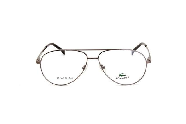 Imagem de Óculos De Grau Unissex Lacoste Metal Prata