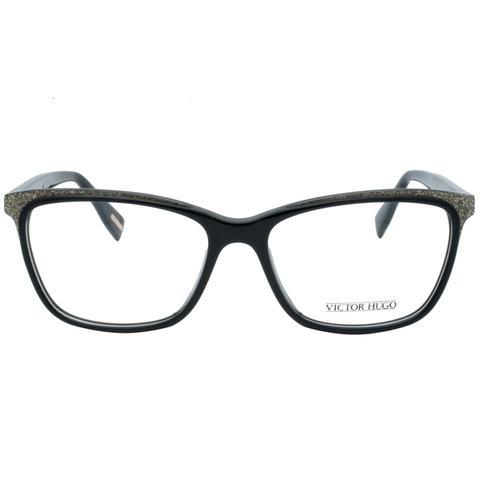 b116345d3952d Imagem de Óculos de Grau Victor Hugo Feminino VH1771 09G5 - Acetato Preto  com Detalhes em