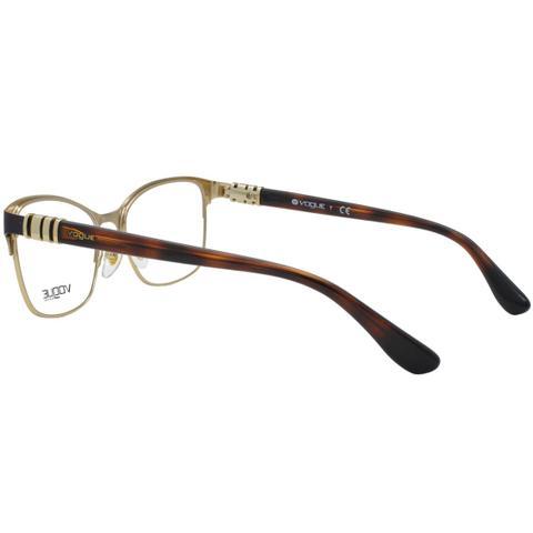 Imagem de Óculos de Grau Vogue Feminino VO4050 C997 - Metal Dourado e Marrom  e Haste ceeadbce78