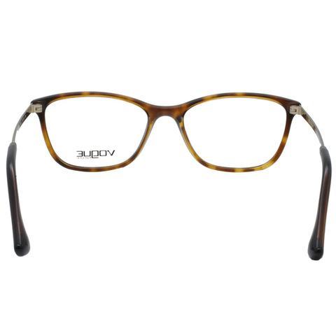 Imagem de Óculos de Grau Vogue Feminino VO5219L W656 - Acetato Tartaruga  Marrom e Metal Dourado 7303749614