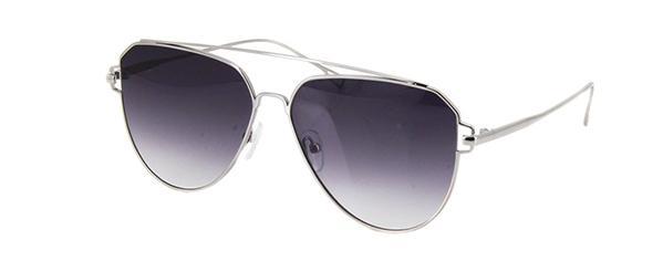 25629131f33ce Imagem de Óculos de Sol Einoh YC3230 C4 Prata Lente Cinza Degradê Tam 59