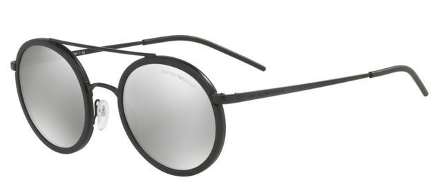 cf65fc24ecbda Imagem de Óculos de Sol Emporio Armani EA2041 3001 Preto Fosco Lente Prata  Espelhada