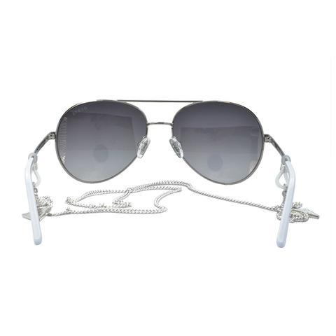 9ea45e0a5b3a9 Imagem de Óculos de Sol Guess Feminino com Corrente GU7607 20C - Metal  Prata e Branco