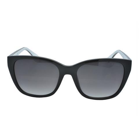 f82e20c10 Imagem de Óculos de Sol Guess Feminino GU7593 05B - Acetato Preto e Haste  Oncinha