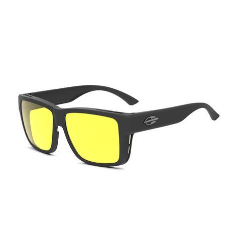 Imagem de Óculos de Sol Mormaii OVERLAP M0083 A14 76 Preto Lente Polarizada  Amarelo Night Driver 5ea955285a