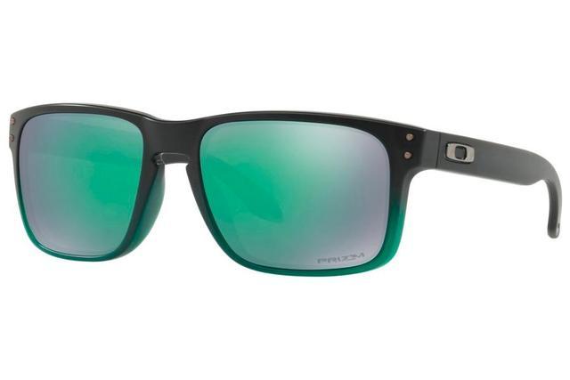 Imagem de Óculos de Sol Oakley Holbrook 0OO9102 E4 55 Verde Degradê Lente  Verde Espelhado bdb73c458e