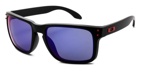6bd3bb764388a Imagem de Óculos de Sol Oakley Holbrook OO9102 Preto Lente Vermelho Iridium