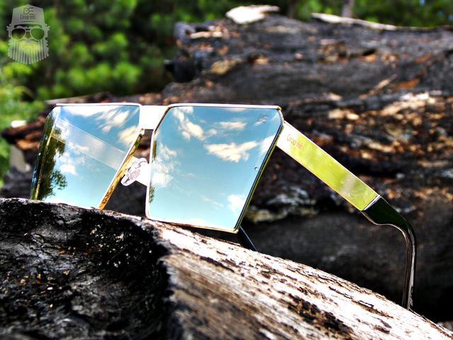 dcbc940f5e7b3 Óculos de Sol Quadrado Drop mE Impact Espelhado Dourado - Drop me ...