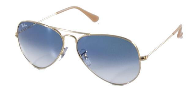 Imagem de Óculos de Sol Ray Ban Aviador Clássico RB3025 Ouro Lente Azul  Degradê fdc1fee9a2