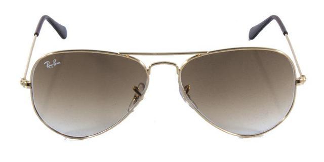 e08fcec95 Imagem de Óculos de Sol Ray Ban Aviador Clássico RB3025 Ouro Lente Marrom  Tam 58